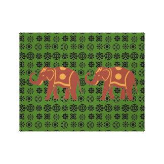 Lucky Elephant couple Canvas Print