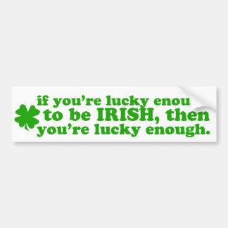 LUCKY ENOUGH IRISH BUMPER STICKER