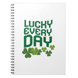 Lucky Every Day St. Patrick's Day Cute Notebook