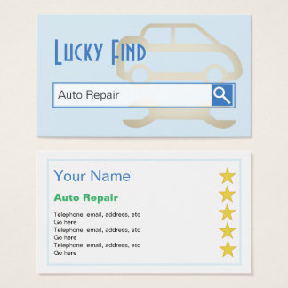 """""""Lucky Find"""" Auto Repair Business Cards"""