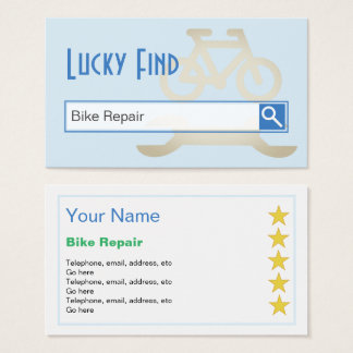 """""""Lucky Find"""" Bike Repair Business Cards"""