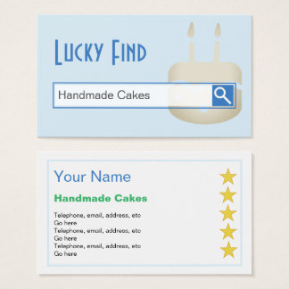 """Lucky Find"" Cake Maker Business Cards"