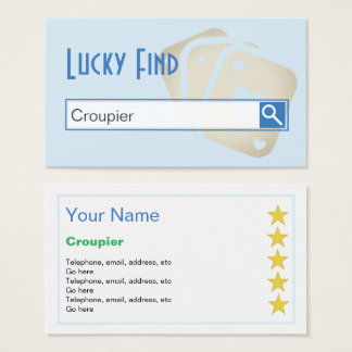 """""""Lucky Find"""" Croupier Business Cards"""