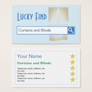 """Lucky Find"" Curtains and Blinds Business Cards"