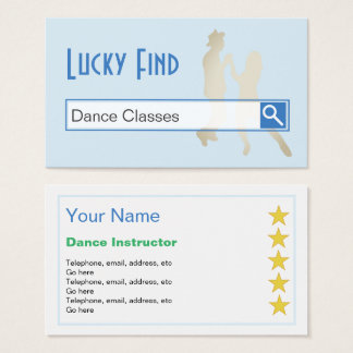 """""""Lucky Find"""" Dance Business Cards"""