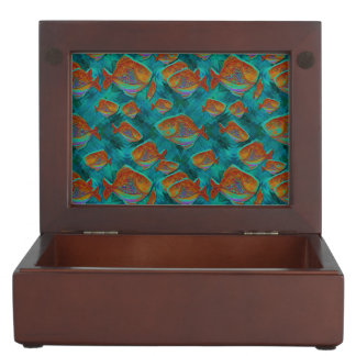 Lucky Fishing Keepsake Box