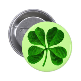 Lucky Four Leaf Clover 2 Inch Round Button