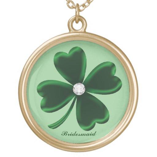 Lucky Four Leaf Clover Bridesmaid Necklace