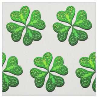 Lucky Four-Leaf Clover Fabric