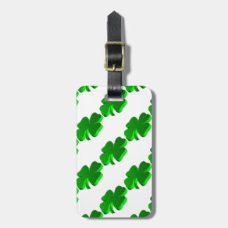 Lucky Four Leaf Clover Green Symbol Good Luck Luggage Tag