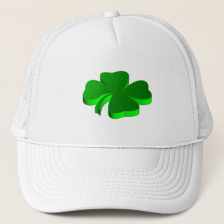 Lucky Four Leaf Clover Green Symbol Good Luck Trucker Hat