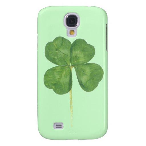 Lucky Four-Leaf Clover Shamrock iPhone 3 3G Case Galaxy S4 Case