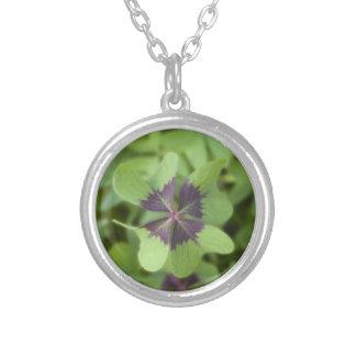 Lucky Four-Leaf Clover Shamrock Necklace