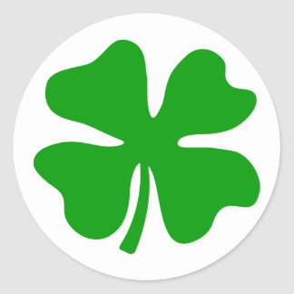Lucky four leaf clover | St Patty's Day Classic Round Sticker
