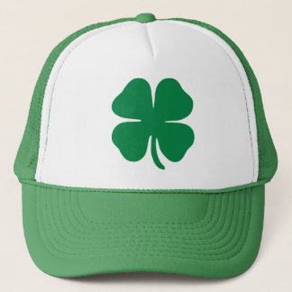 Lucky Four Leaf Clover Trucker Hat