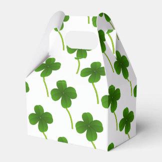 Lucky Four Leaf Clover Wedding Favor Box