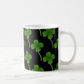 Lucky Four-Leaf Clovers Coffee Mug