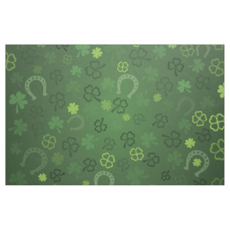 Lucky four leaves clovers pattern - Patrick day Fabric