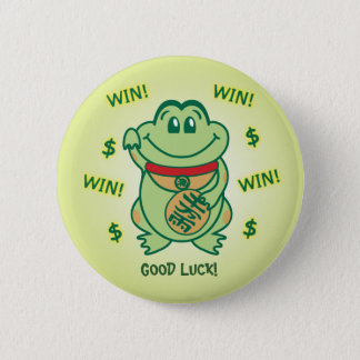Lucky Frog 2 Inch Round Button