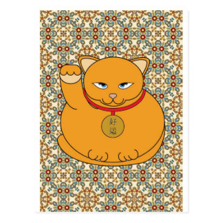 Lucky Gold Cat Postcard