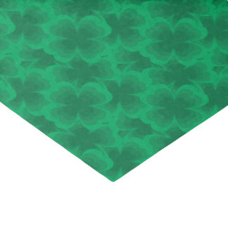 Lucky Green 4-Leaf Clover Irish Spring Clovers Tissue Paper