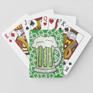 Lucky Green Beer Poker Deck