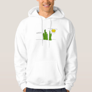 Lucky Green Cactus Doodle Funky Hoodie