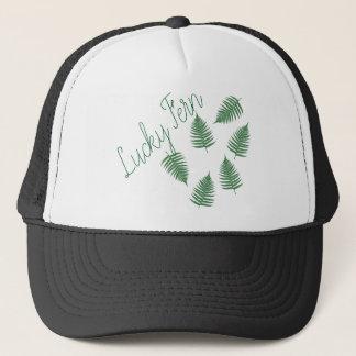 Lucky Green Fern Funky Cap Hat