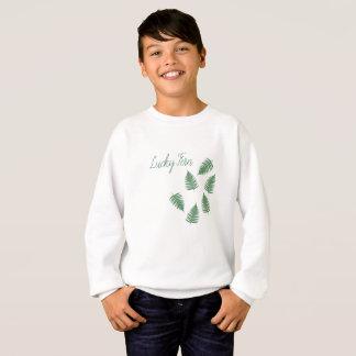 Lucky Green Fern Funky Pattern Long Sleeve Top