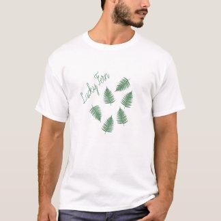 Lucky Green Fern Pattern T-Shirt Top