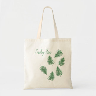 Lucky Green Fern Pattern Tote Bag