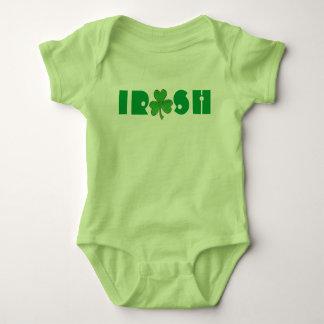 Lucky Green Irish Shamrock Clover St Patrick's Day Baby Bodysuit