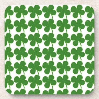 Lucky Green Shamrock Coaster