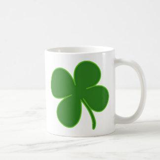 Lucky Green Shamrock Coffee Mug