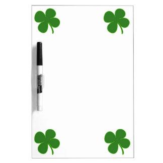 Lucky Green Shamrock Dry Erase Board