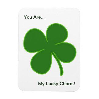 Lucky Green Shamrock Rectangular Photo Magnet