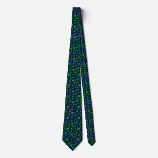 Lucky Green Shamrocks Custom Background A01E1 Tie