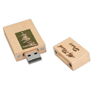 Lucky Hard Drive Wood USB 2.0 Flash Drive