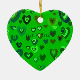 Lucky Hearts St Patrick's Day Gift collection Ceramic Heart Ornament