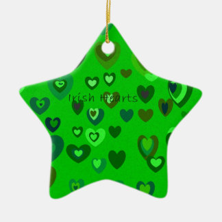 Lucky Hearts St Patrick's Day Gift collection Ceramic Star Ornament