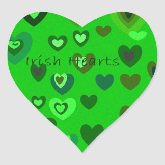 Lucky Hearts St Patrick's Day Gift collection Heart Sticker