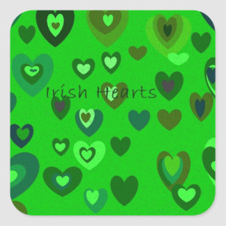 Lucky Hearts St Patrick's Day Gift collection Square Sticker