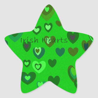 Lucky Hearts St Patrick's Day Gift collection Star Sticker