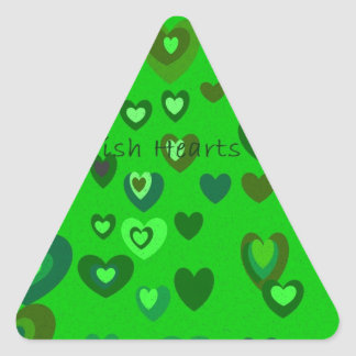 Lucky Hearts St Patrick's Day Gift collection Triangle Sticker