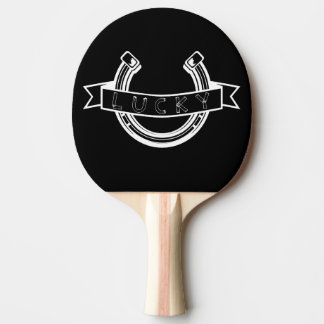 Lucky horseshoe Good Luck Ping Pong Paddle