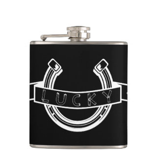 Lucky horseshoe hip flask