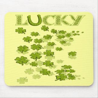 Lucky HorseShoe Shamrocks Mouse Pad