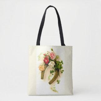 Lucky horseshoe tote bag