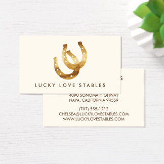 Lucky Horseshoes Double Sided Business Card