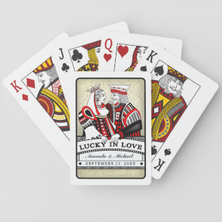Lucky in Love Black Red & White Playing Cards